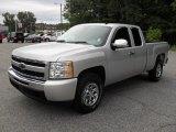 2010 Sheer Silver Metallic Chevrolet Silverado 1500 LS Extended Cab #54256904