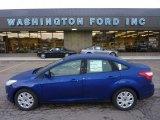 2012 Sonic Blue Metallic Ford Focus SE Sedan #54256232