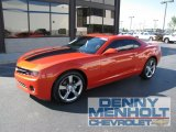 2010 Inferno Orange Metallic Chevrolet Camaro LT/RS Coupe #54256731