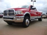 2012 Flame Red Dodge Ram 3500 HD Laramie Crew Cab 4x4 Dually #54256694