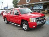 2009 Victory Red Chevrolet Silverado 1500 LT Extended Cab 4x4 #54255989