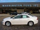2010 White Platinum Tri-coat Metallic Ford Fusion Hybrid #54379136