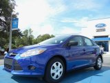 2012 Sonic Blue Metallic Ford Focus S Sedan #54378862