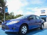 2012 Sonic Blue Metallic Ford Focus S Sedan #54378862