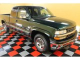 2001 Forest Green Metallic Chevrolet Silverado 1500 LS Extended Cab 4x4 #54379275