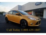 2012 Yellow Blaze Tricoat Metallic Ford Focus SE Sport 5-Door #54378962