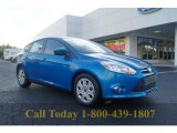 2012 Blue Candy Metallic Ford Focus SE 5-Door #54378961