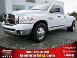 2007 Bright White Dodge Ram 3500 SLT Quad Cab Dually #54378959