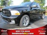 2012 Black Dodge Ram 1500 Express Quad Cab #54378952