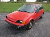 1990 Bright Red Geo Metro LSi 4 Door Hatchback #54378394