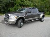 2008 Dark Khaki Metallic Dodge Ram 3500 Laramie Resistol Mega Cab 4x4 Dually #54418932