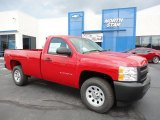 2012 Victory Red Chevrolet Silverado 1500 Work Truck Regular Cab 4x4 #54418480