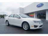 2010 White Platinum Tri-coat Metallic Ford Fusion SEL V6 #54418462