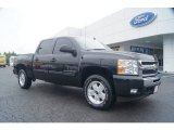 2009 Black Chevrolet Silverado 1500 LT Crew Cab 4x4 #54418459