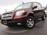 2007 Dark Cherry Pearl Honda Pilot EX-L #54418449