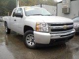 2010 Sheer Silver Metallic Chevrolet Silverado 1500 LS Extended Cab #54418274