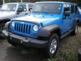 2011 Cosmos Blue Jeep Wrangler Unlimited Sport 4x4 #54418222