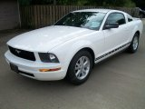 2007 Performance White Ford Mustang V6 Deluxe Coupe #54419076