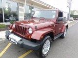 2010 Red Rock Crystal Pearl Jeep Wrangler Sahara 4x4 #54419069