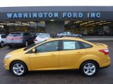 2012 Yellow Blaze Tricoat Metallic Ford Focus SE Sport Sedan #54418674