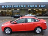 2012 Race Red Ford Focus SE Sedan #54418646