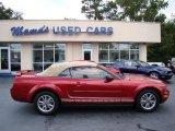 2005 Redfire Metallic Ford Mustang V6 Premium Convertible #54509286