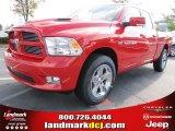2012 Flame Red Dodge Ram 1500 Sport Quad Cab #54538671