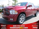 2012 Deep Cherry Red Crystal Pearl Dodge Ram 1500 Sport Quad Cab #54538663