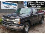 2004 Dark Gray Metallic Chevrolet Silverado 1500 LS Regular Cab 4x4 #54538732