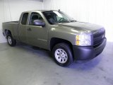 2008 Graystone Metallic Chevrolet Silverado 1500 Work Truck Extended Cab #54538899