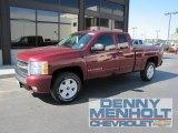 2008 Deep Ruby Metallic Chevrolet Silverado 1500 LT Extended Cab 4x4 #54577763