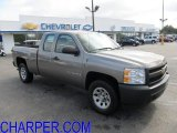 2008 Graystone Metallic Chevrolet Silverado 1500 Work Truck Extended Cab 4x4 #54577958