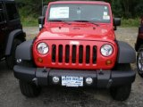 2012 Flame Red Jeep Wrangler Unlimited Sport S 4x4 #54577311