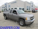 2008 Graystone Metallic Chevrolet Silverado 1500 LS Extended Cab 4x4 #54577291