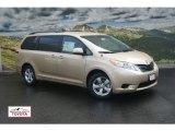 2012 Sandy Beach Metallic Toyota Sienna LE #54577275