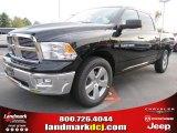 2012 Black Dodge Ram 1500 Big Horn Crew Cab #54630541