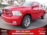 2012 Flame Red Dodge Ram 1500 Sport Quad Cab #54630537