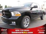 2012 Black Dodge Ram 1500 Express Quad Cab #54630532