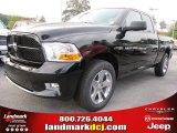 2012 Black Dodge Ram 1500 Express Quad Cab #54630531