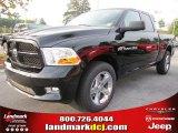 2012 Black Dodge Ram 1500 Express Quad Cab #54630529