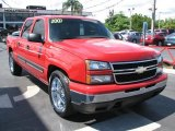 2007 Victory Red Chevrolet Silverado 1500 Classic LS Crew Cab #54631069