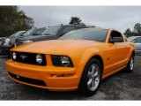 Grabber Orange Ford Mustang in 2007