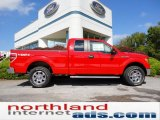 2011 Race Red Ford F150 XLT SuperCab 4x4 #54630417
