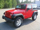 2012 Flame Red Jeep Wrangler Sport S 4x4 #54630957