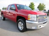 2012 Victory Red Chevrolet Silverado 1500 LT Extended Cab 4x4 #54630715