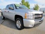 2011 Sheer Silver Metallic Chevrolet Silverado 1500 LT Crew Cab #54630714