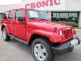 2012 Flame Red Jeep Wrangler Unlimited Sahara 4x4 #54630617