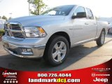 2012 Bright Silver Metallic Dodge Ram 1500 Big Horn Quad Cab #54683838