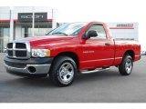 2003 Flame Red Dodge Ram 1500 ST Regular Cab #5442825