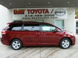 2012 Salsa Red Pearl Toyota Sienna LE #54683690